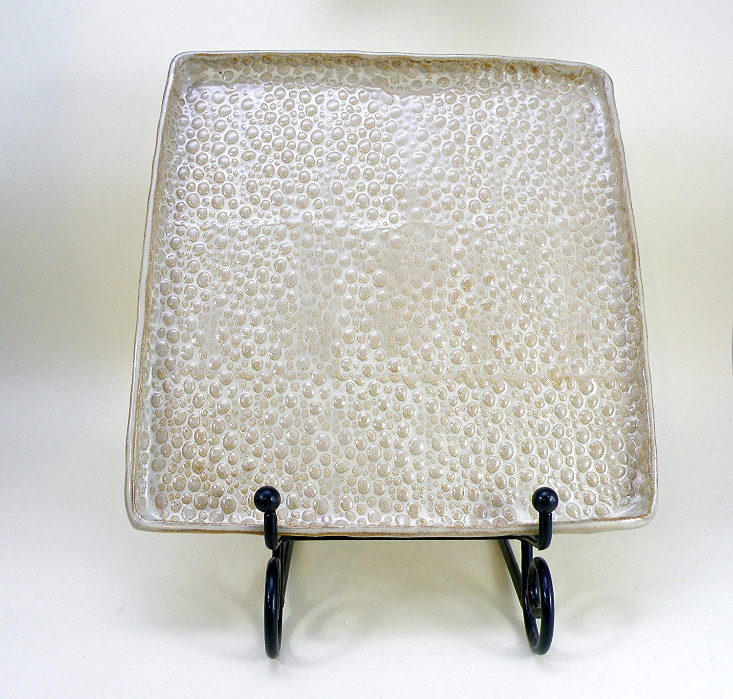 Square plate stoneware Ranking TOP13 clay High Large Handmade Brand new Glaze Fire