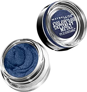 Maybelline New York Eyestudio ColorTattoo Metal 24HR Cream Gel Eyeshadow, Electric Blue, 0.14 Ounce (1 Count)