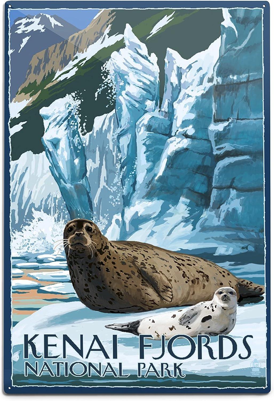 Lantern Press Kenai Fjords National Park Ice and Alaska Limited time trial price Seals latest