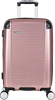 """Ben Sherman Norwich 20"""" Lightweight Hardside PET Expandable 8-Wheel Spinner Carry-On Suitcase, Rose Gold"""