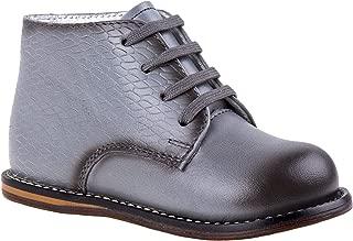 Josmo 2-8 针织印花散步鞋(灰色编织,2.5)