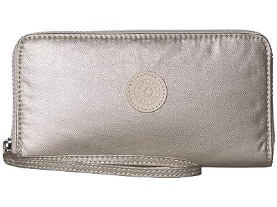 Kipling Imali RFID Wristlet Wallet (Cloud Metal) Handbags