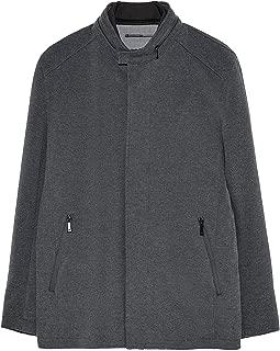 Zara Men Combined Textured Three Quarter Length Coat 0706/355