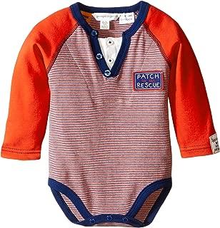 Pumpkin Patch Baby-Boys Infant Striped Henley Bodysuit