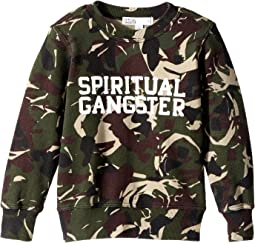 Spiritual Gangster Kids - SG Varsity Crew Neck Fleece (Toddler/Little Kids/Big Kids)