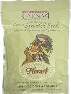 Carna4 Ground Sprouted Seeds 100% raw Organic Raw Food Topper Flora4, 18oz …