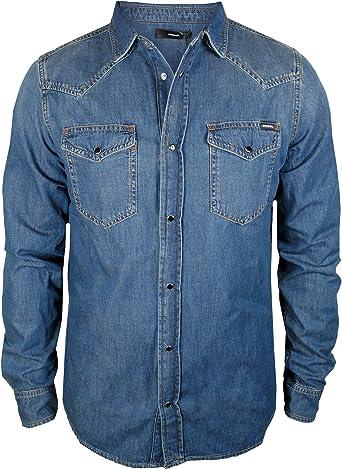 Diesel New Sonora - Camisa vaquera para hombre, color azul