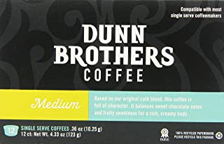 Dunn Brother's Single Serve Coffee, Medium Blend, 12 Count (Pack of 6)