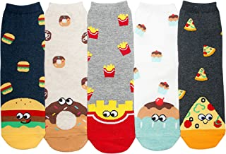 Women's Cotton Fun Animal Food Designed Novelty Crew Socks Gifts Size 6-9