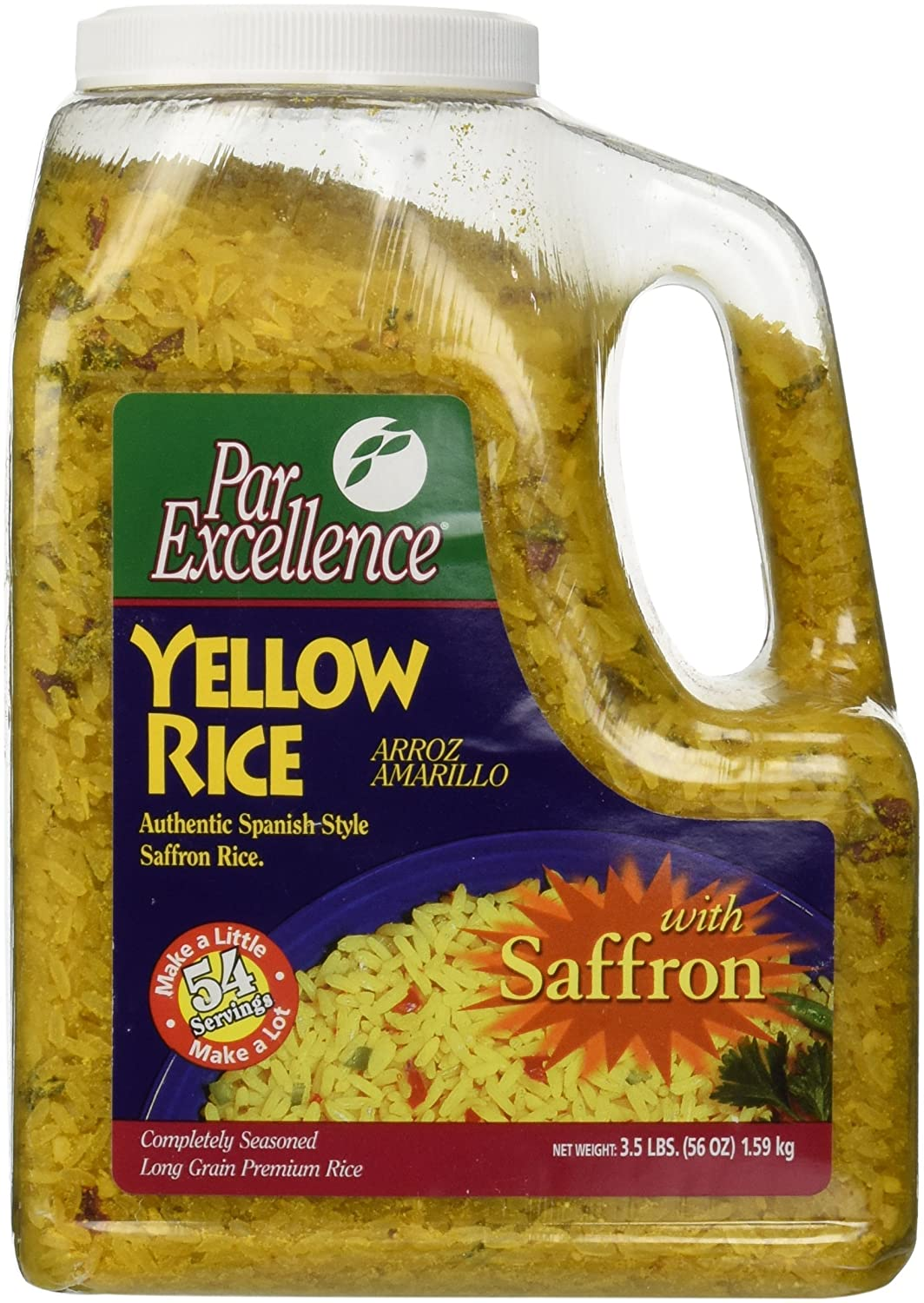 Amazon Com Par Excellence Producers Yellow Rice 3 5 Lb Prepared Rice Dishes Grocery Gourmet Food
