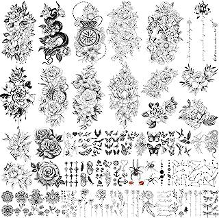 Yazhiji 49 Blatt große sexy Blumen Sammlung wasserdichte te