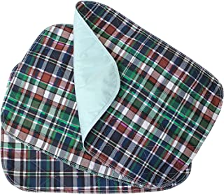 3 Pack - Plaid Small Washable Chair Pad Bed Pad/Small Reusable Incontinence Chair Underpad 18x24 - Perfect for Children and Adults Incontinence Protection