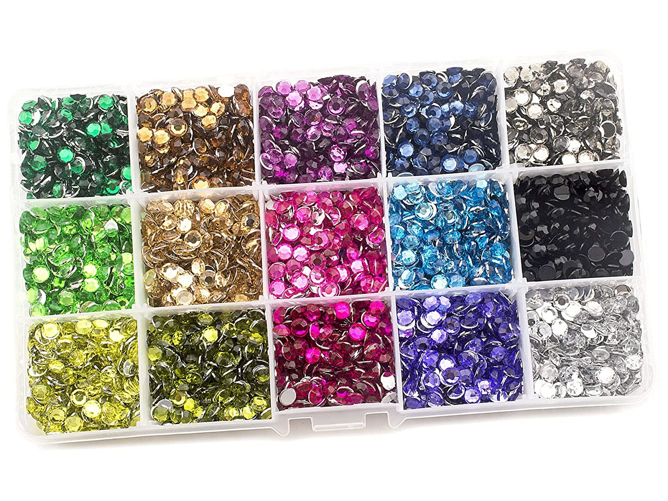 Summer-Ray 5mm Assorted Color Rhinestones in Storage Box (Set #1)