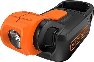 BLACK+DECKER Akumulatorowa kompaktowa lampa błyskowa 18 V z haczykiem do paska, bateria nie jest dołączona, BDCCF18N-XJ