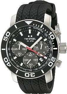 تي دبليو ستيل ساعة للرجال انالوج بعقارب ، مطاطي ، TW700