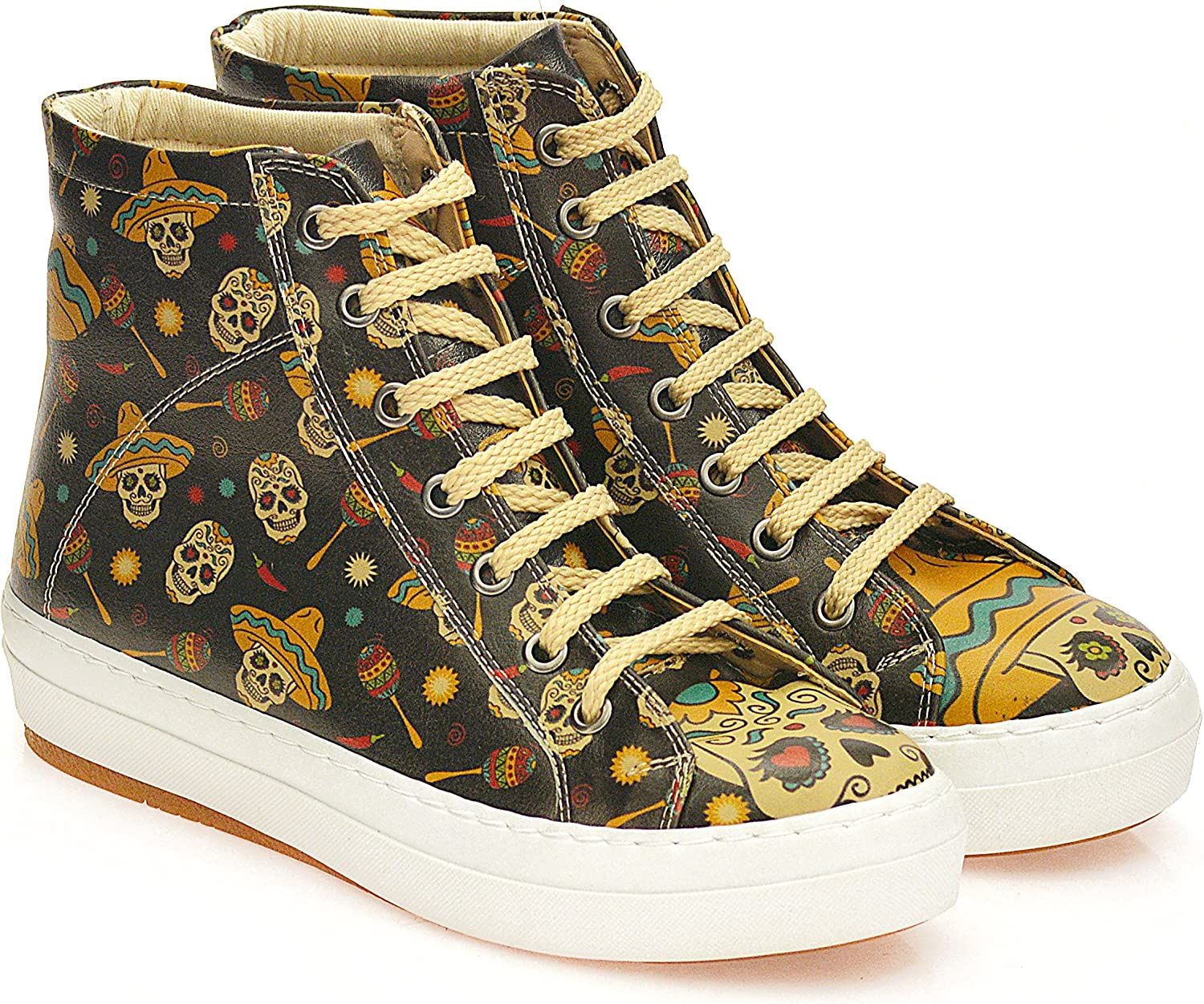 GOBY Women's shoes ''Sugar Skull High Top Sneakers Boot'' CW2018