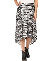 Roper - 0431 Feather Ikat Printed Jersey Skirt