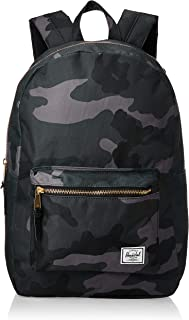 Herschel Settlement Backpack with 15'' Laptop Sleeve and Front Storage Pocket, Night Camo, Classic 23L