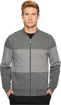 Perry Ellis - Regular Fit Color Block Jacquard Bomber
