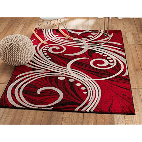 Red And White Rug Amazon Com