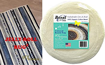 Jelly Roll Rug 2 Squared Kit Bundle, Including Pattern and One (1) Roll of Bosal Katahdin Batting On-A-Roll, 2.5