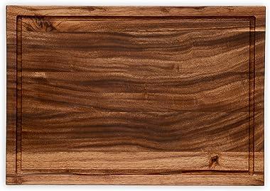 "Retailmonk Non-Slip Natural Wood Handmade Antibacterial Indian Walnut Cutting/Chopping/Food-Grade Board, (Large 17"" x 12&"