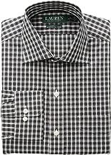 LAUREN RALPH LAUREN Men's Classic Fit Non Iron Stretch Poplin Dress Shirt
