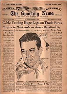 The Sporting News Newspaper Nov 3, 1962 G.M.s Tossing Huge Logs On Trade Fires GOOD
