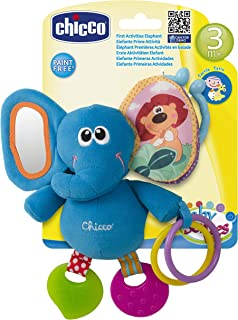 Chicco Baby Senses Line First Activities Elephant Toy [Ch72375], Multi Color