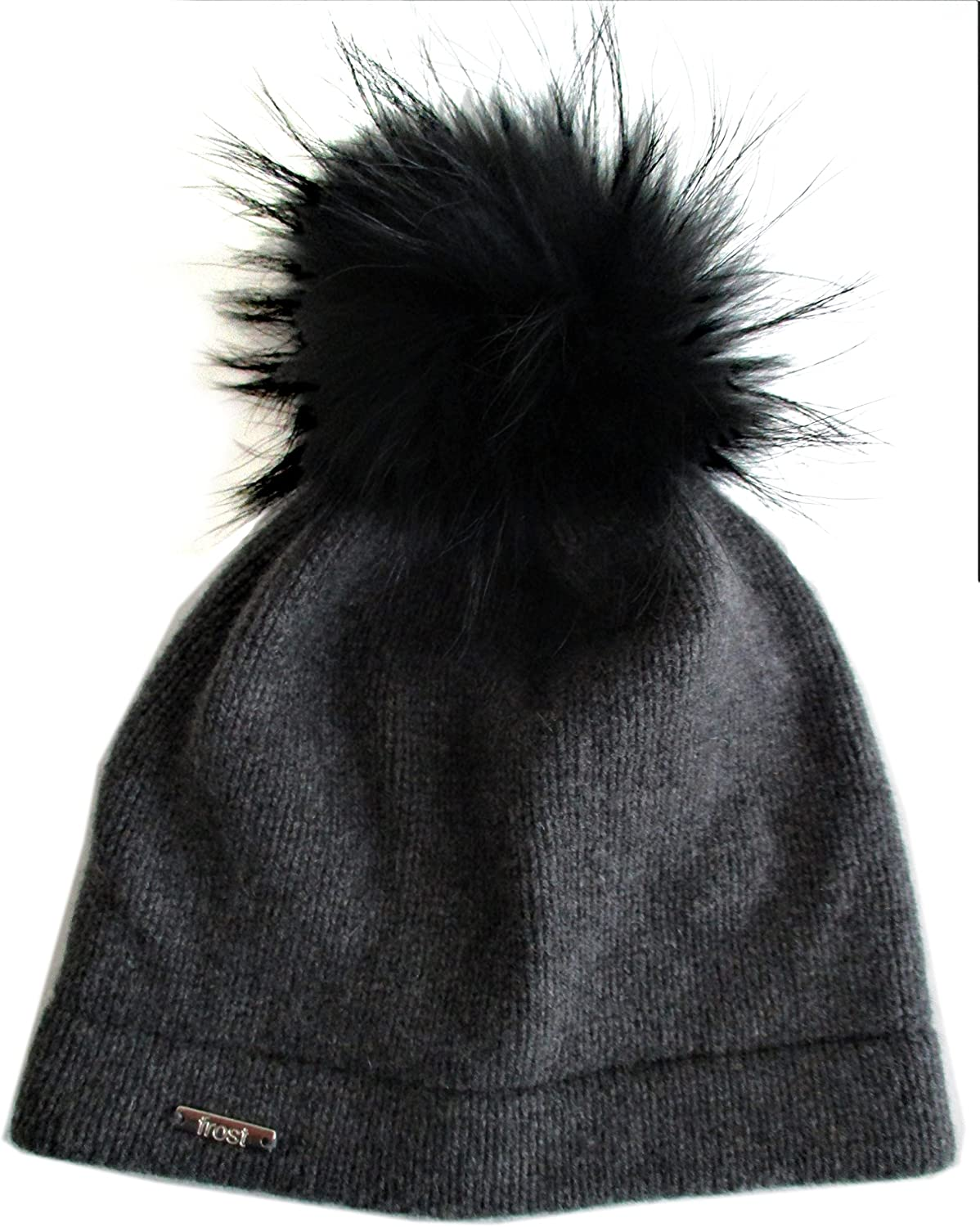Frost Hats 2021 spring and summer new Cashmere Classic Hat Gifts Genuine Fox Fur with Detachable