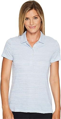 Heather Stripe Polo