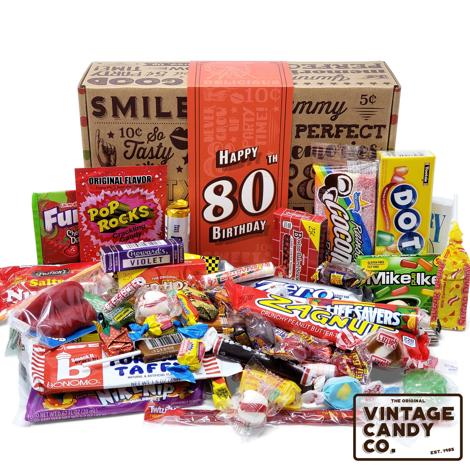 80TH BIRTHDAY RETRO CANDY GIFT BOX - 1939 Decade Nostalgic Childhood Candies  sc 1 st  Amazon.com & 80 Year Old Birthday Gifts: Amazon.com