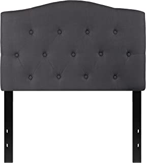 Flash Furniture Cambridge Tufted Upholstered Twin Size Headboard in Dark Gray Fabric