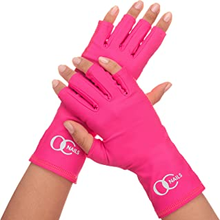 OC NAILS UV Shield Glove (HOT Pink) Anti UV Glove for Gel Manicures with UV/LED Lamps