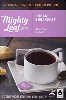 Mighty Leaf Tea Organic Breakfast Hand-Stiched Tea Bags, 15 ct