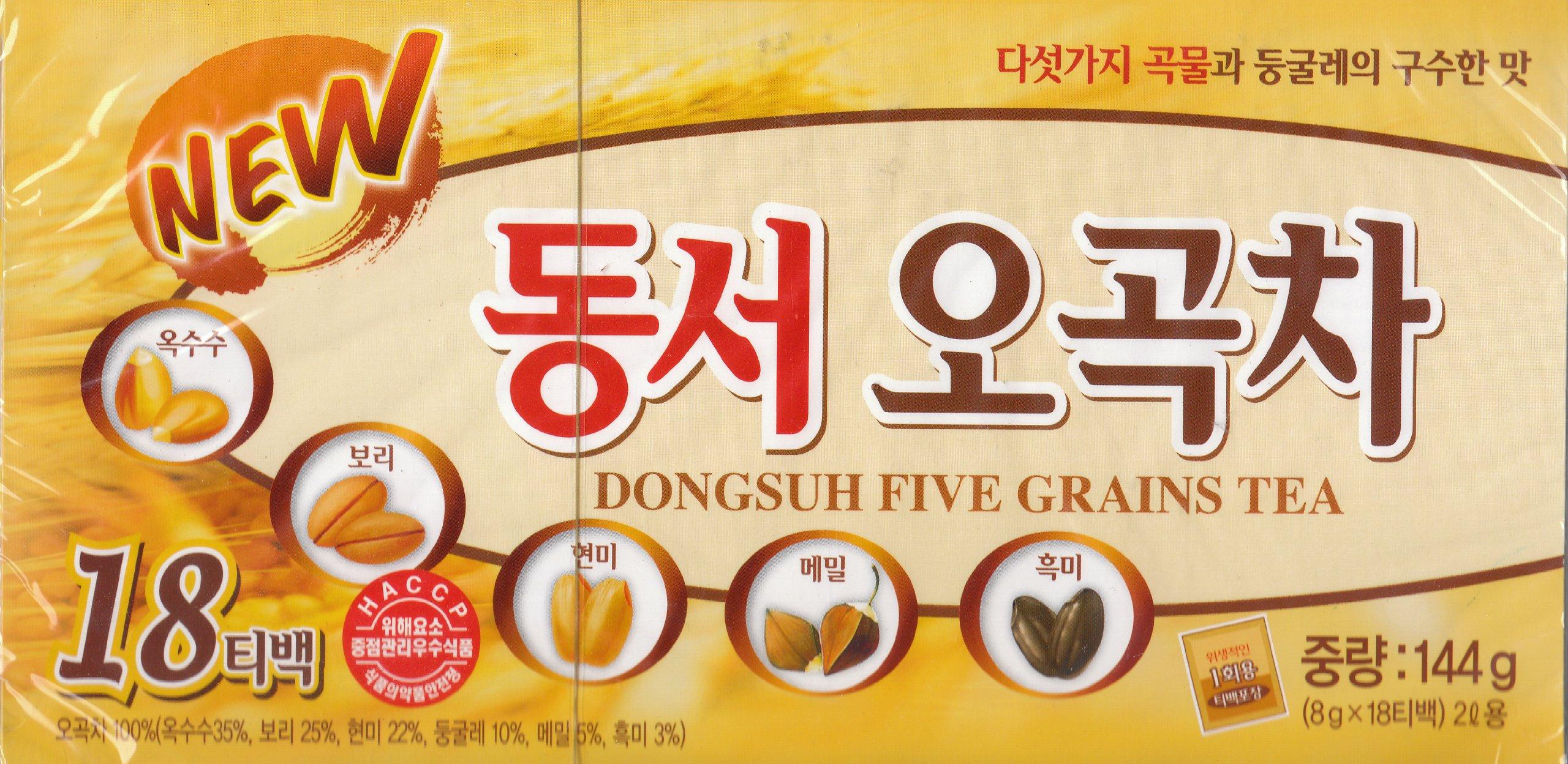 Dongsuh Five Grains Tea, 8g X 18 Bags