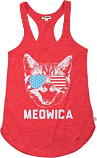 Women's Hilarious Patriotic Americana Tank Tops - USA Stars and Stripes Tanks