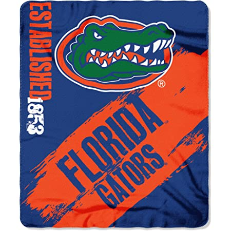 NCAA Florida Gators NCAA Basic 60 by 80 Plush Raschel Blanket Blue 60 x 80