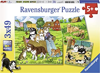 Ravensburger 80021 Cats and Dogs Children's Puzzle 3x49pc