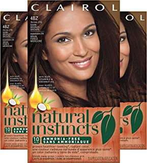 Clairol Natural Instincts Hair Color, Shade 4bz/27a Double Espresso Dark Bronze Brown, 3 Count