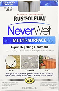 Rust-Oleum 274232 Repelling treatment base coat-9 oz and top-coat 9-oz , Frosted Clear