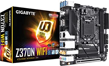 GIGABYTE Z370N WIFI (Intel LGA1151/ Z370/ Mini-ITX/ 2xM.2/ 2xLAN/ Onboard Wi-Fi/ HDMI 2.0a/ PCIe Bifurcation/ USB3.1 Gen1 Type-C/ 2x2 11ac Wireless/ RGB Fusion/ Smart Fan 5/ DP/ Motherboard)