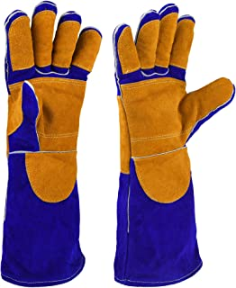 NKTM Leather Welding Gloves EXTREME HEAT RESISTANT & WEAR RESISTANT – For Tig..