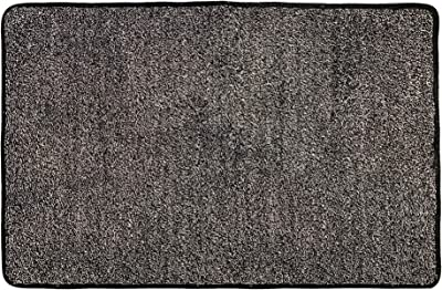 """WOMHOPE Front Doormat Indoor Super Absorbs Mud Doormat Dirt Trapper Rug Low-Profile Shoes Scraper Machine Washable with Anti-Slip Rubber Back (24"""" x 36"""", Grey and White)"""