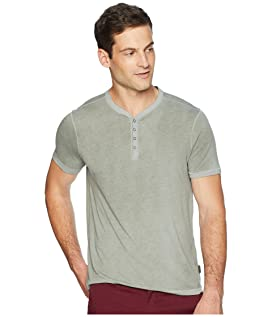 Short Sleeve Henley with Reverse Spray K3837U2B