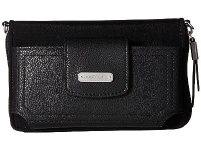 Baggallini New Classic RFID Phone Wallet Crossbody (Black) Cross Body Handbags