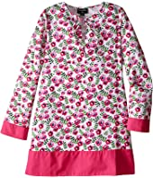 Oscar de la Renta Childrenswear - Spring Pansies Cotton Caftan (Toddler/Little Kids/Big Kids)