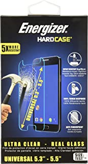 Energizer ENSPCOCLUN55 Energizer Universal Tempered Glass Screen Protector for 5.3-5.5 inches Smartphone - Transparent