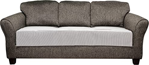 Quick Fit Anti Slip Chair Living Room Couch Cover with Pockets, White