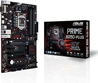 Asus Prime B250-PLUS - Placa Base (1 x PCIe 3.0, 6 x SATA 3, HDMI, DVI,4 x USB 3.0, LGA 1151, Intel HD Graphics, DDR4)